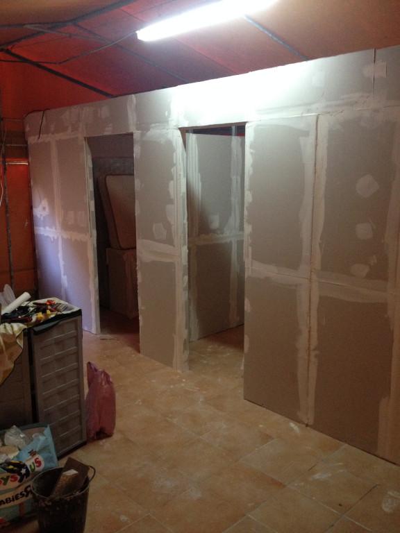 portfolio 14/26  - Montagem de 3 quartos em tenda de campismo familiar. Pladur