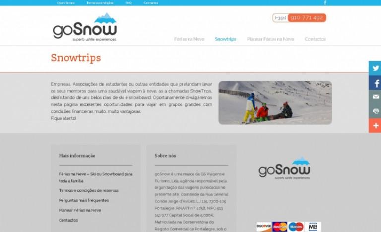 portfolio 11/12  - Online Business   GoSnow