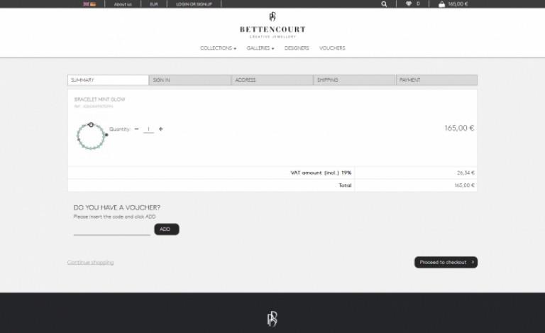 portfolio 8/12  - Ecommerce & Digital Marketing   Bettencourt Creative Jewellery