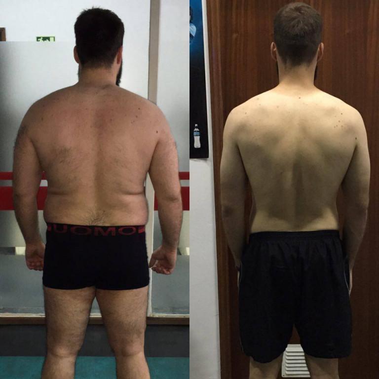 portfolio 1/1  - O meu recente atleta perdeu 34 kilos em 6 meses