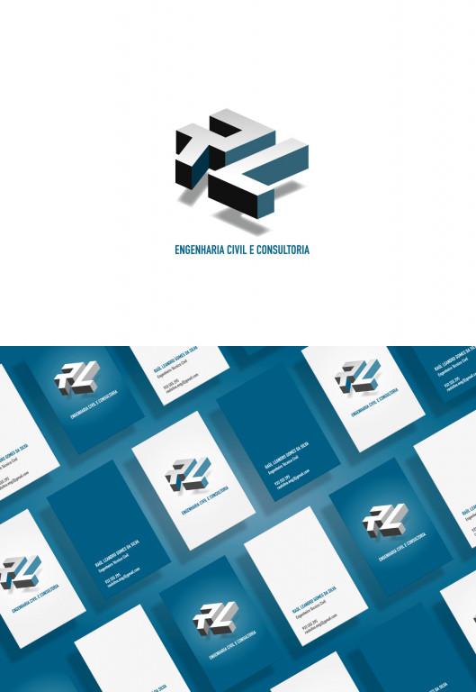 portfolio 2/2  - Identidade gráfica para empresa de Engenharia Civil e Consultoria