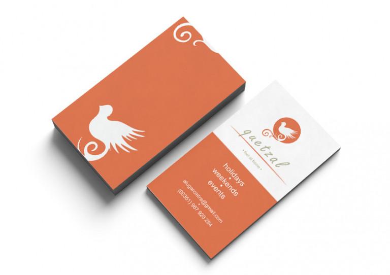 portfolio 2/10  - Cartão de Visita // Arrendamentos Turísticos