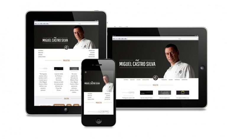 portfolio 10/84  - Website Chefe Miguel Castro Silva
