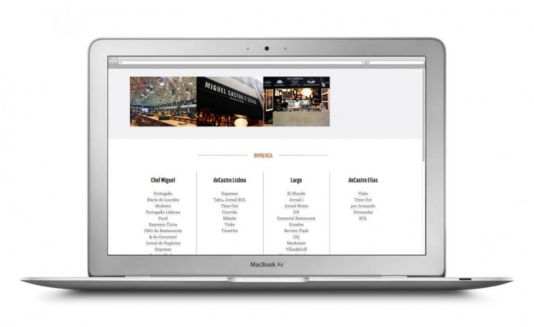 portfolio 11/84  - Website Chefe Miguel Castro Silva