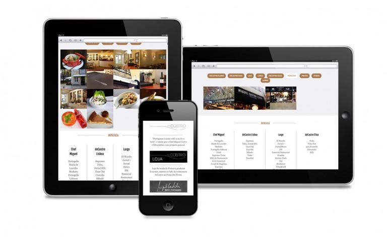 portfolio 8/84  - Website Chefe Miguel Castro Silva