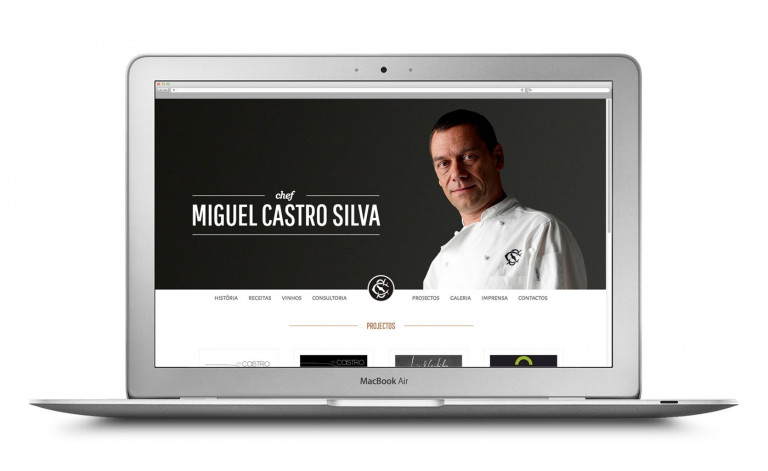 portfolio 7/84  - Website Chefe Miguel Castro Silva