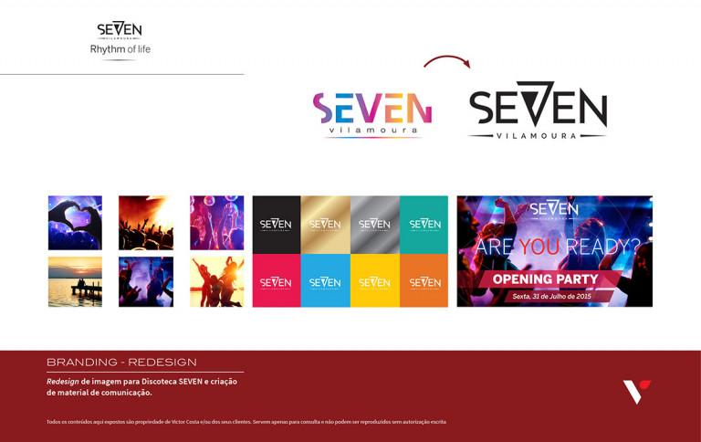 portfolio 3/39  - Criação de imagem para Seven, Club Vilamoura