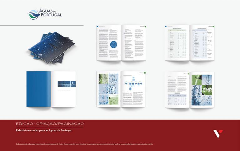 portfolio 15/39  - Edição e paginação de Relatório e Contas para Águas de Portugal