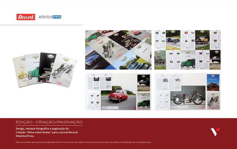 portfolio 12/39  - Design, edição e paginação de coleção Mitos sobre rodas para Record/AtlanticoPress