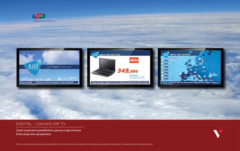 portfolio 34/39  - Canal de TV interna para as Lojas Francas (free-shops aeroportos)