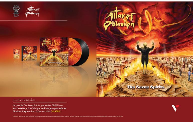 portfolio 27/39  - Ilustração para CD Musical de Altar of Oblivion