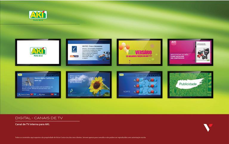 portfolio 36/39  - Canal de TV interna para AKI