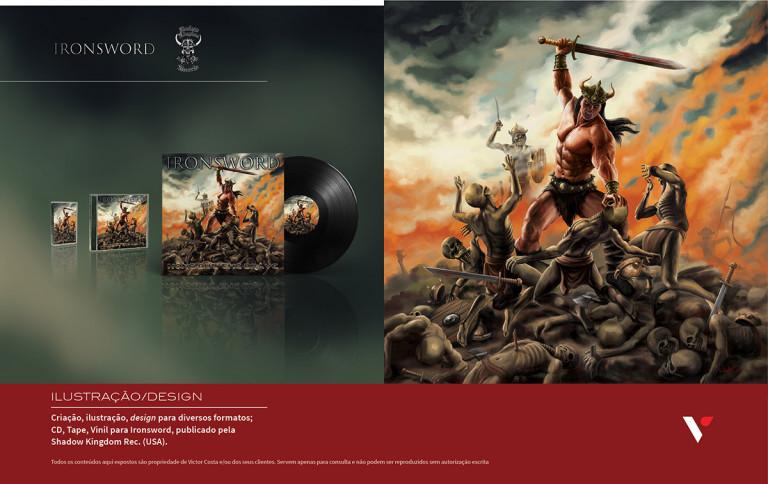 portfolio 28/39  - Design e ilustração para CD Musical de Ironsword