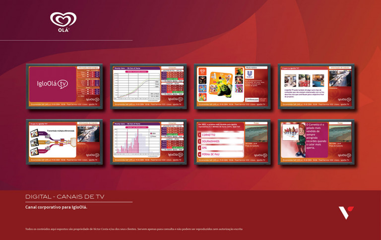 portfolio 33/39  - Canal de TV interno para a Iglo/Olá