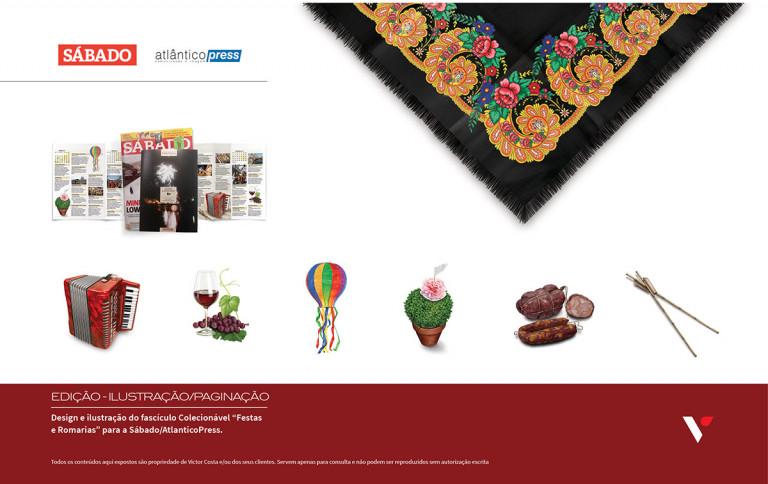 portfolio 13/39  - Design e ilustração para Sábado/AtlanticoPress