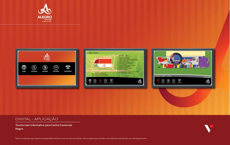 portfolio 24/39  - Touchscreen informativo para Centro Com. Alegro