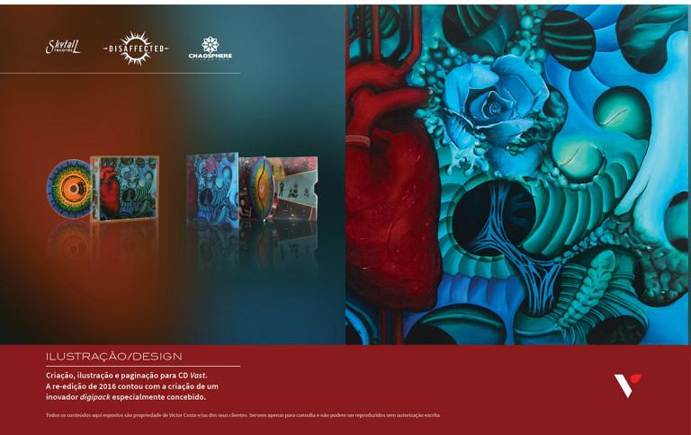 portfolio 30/39  - Design e ilustração para CD Musical de Disaffected