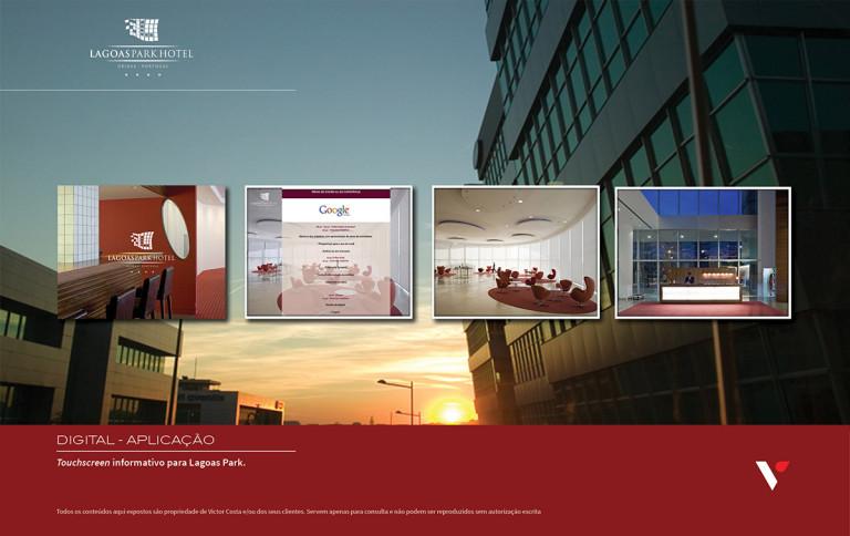 portfolio 26/39  - Touchscreen informativo para Lagoas Park Hotel