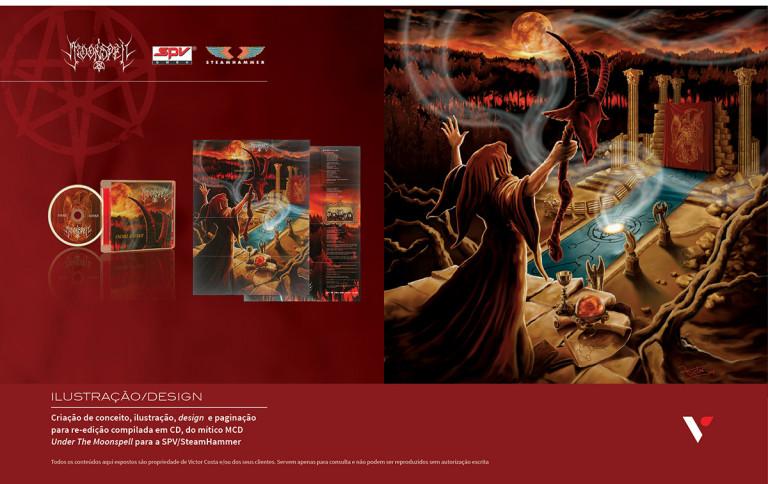 portfolio 29/39  - Design e ilustração para CD Musical de Moonspell