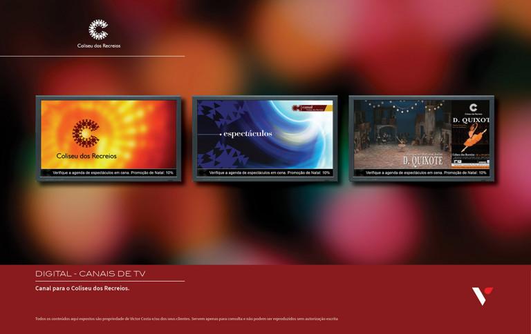 portfolio 35/39  - Canal de TV interna para o Coliseu dos Recreios