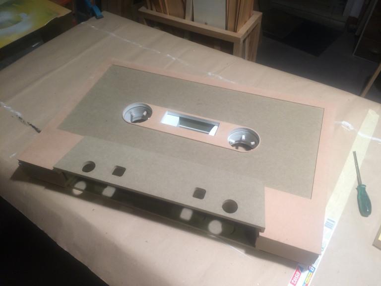 portfolio 24/36  - Construção de cassete audio gigante