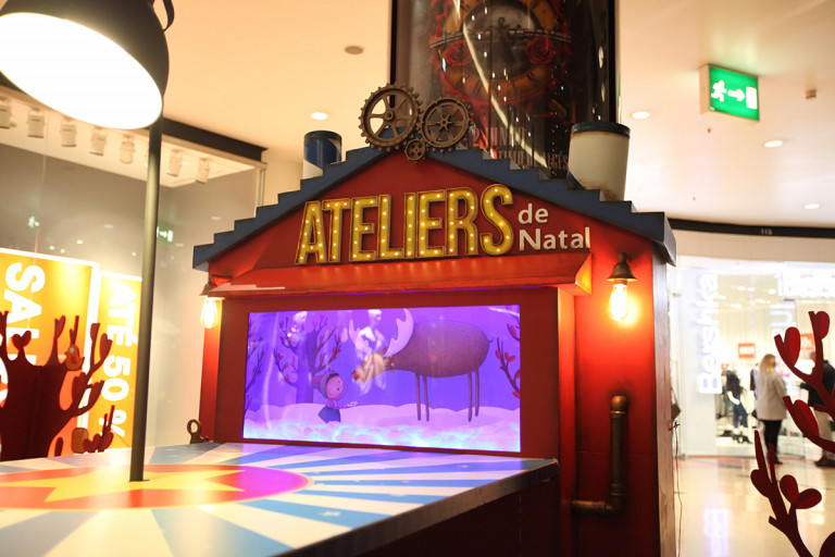 portfolio 14/41  - Construção de espaço de ateliers para crianças em centro comercial