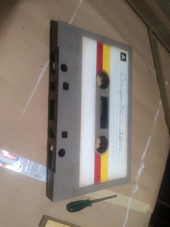portfolio 25/36  - Construção de cassete audio gigante