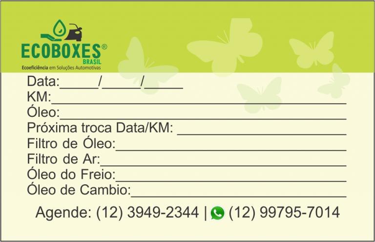 portfolio 4/23  - Cartão troca de Oleo (Verso)