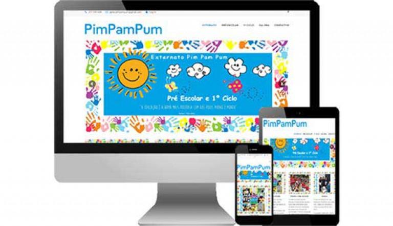 portfolio 1/3  - Desenvolvimento do site http://externatopimpampum.pt/