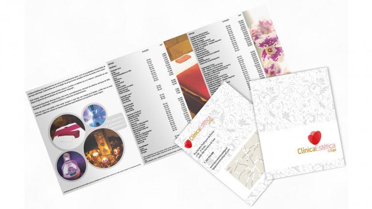 portfolio 11/11  - Flyer Clínica Estética da Liga