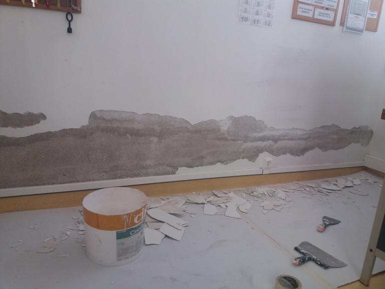 portfolio 9/10  - Reparação  da parede