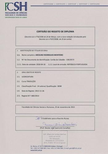 portfolio 3/3  - Certificado em Tradução