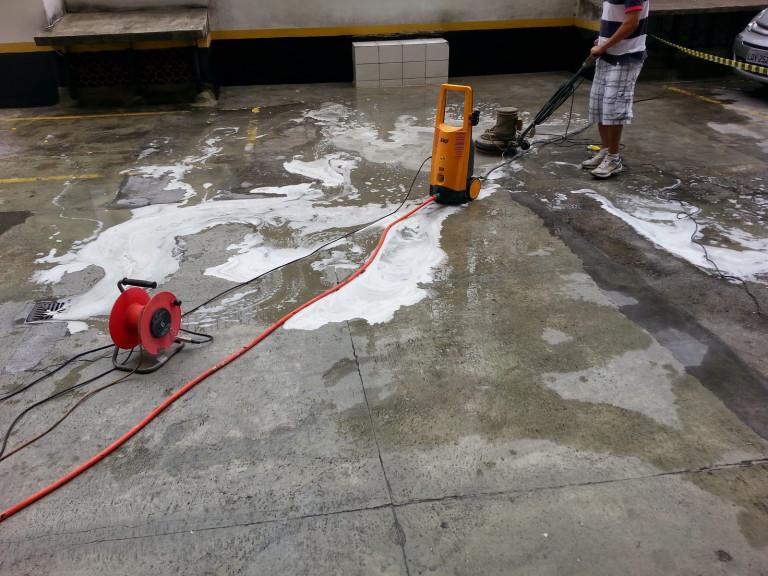 portfolio 8/16  - Serviços de lavagem de garagens e estacionamentos