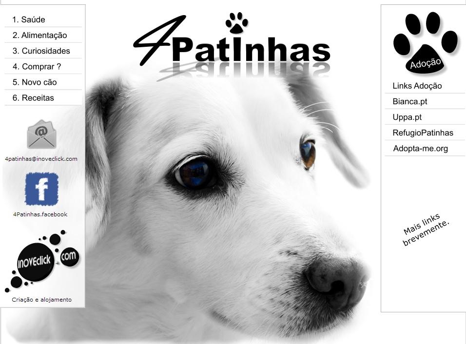 portfolio 5/5  - www.4patinhas.inoveclick.com