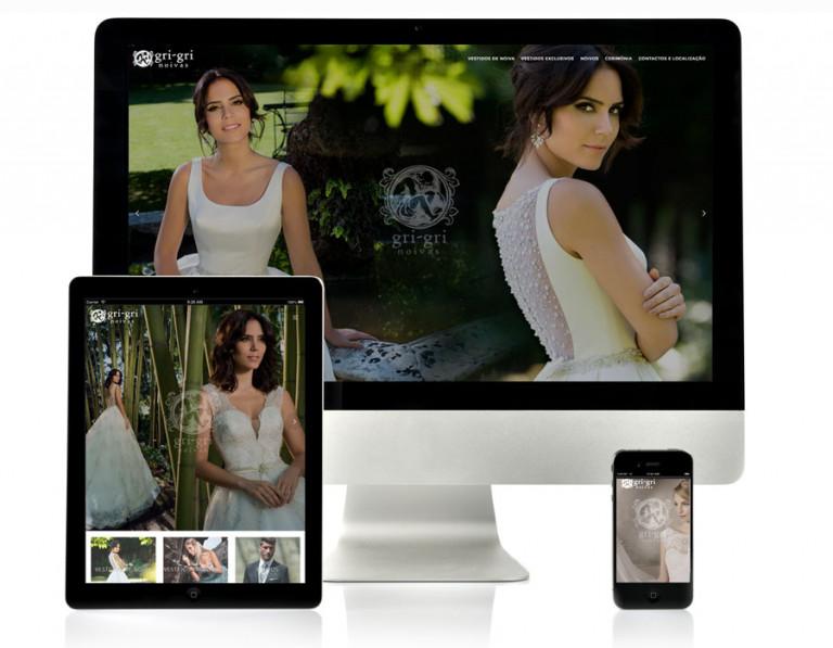 portfolio 9/17  - Website Gri-Gri Noivas