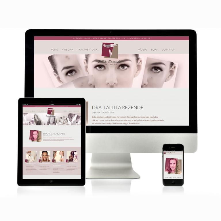portfolio 5/17  - Website Dra. Tallita Rezende