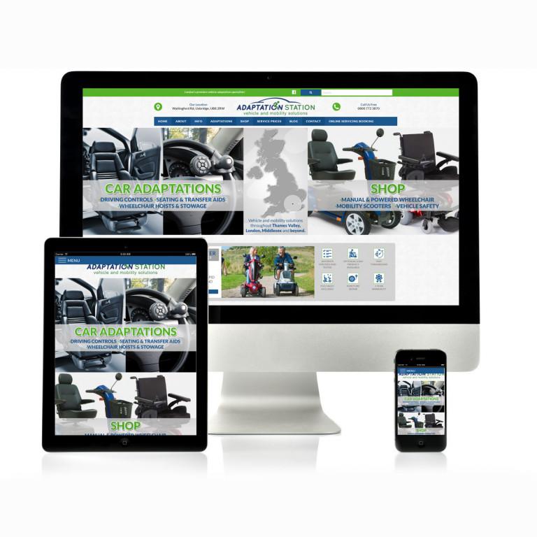 portfolio 3/17  - Website Adaptation Station (e-commerce)