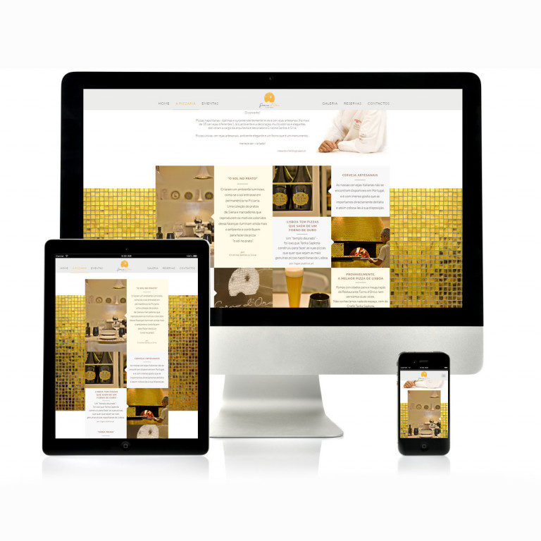 portfolio 1/17  - Website Forno D'oro