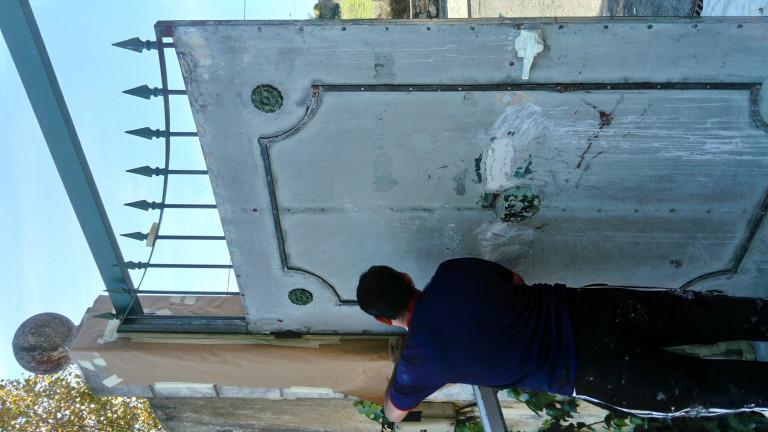 portfolio 2/38  - Decapagem de portao metalico para pintura
