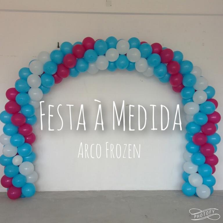 portfolio 14/21  - Arco em Balões - Frozen Theme