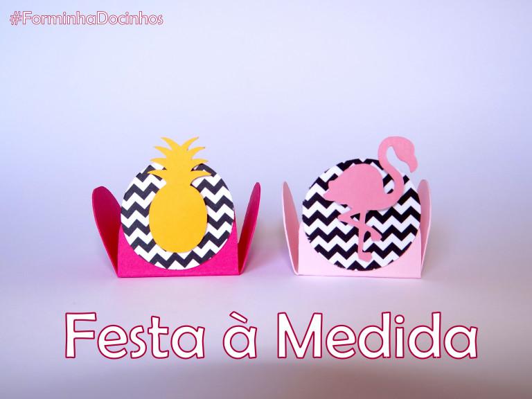 portfolio 10/21  - Forminhas para doces - flamingo party