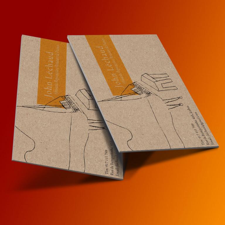 """portfolio 8/12  - Cartão de Visita """"J.Lechaud"""""""