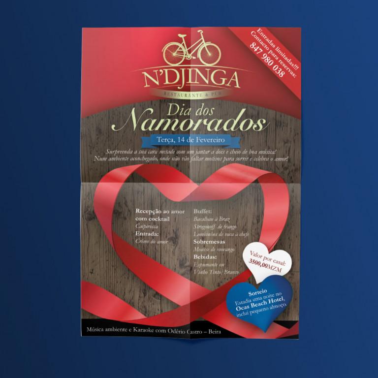 "portfolio 12/12  - Flyer ""N'Djinga"" (Moçambique)"