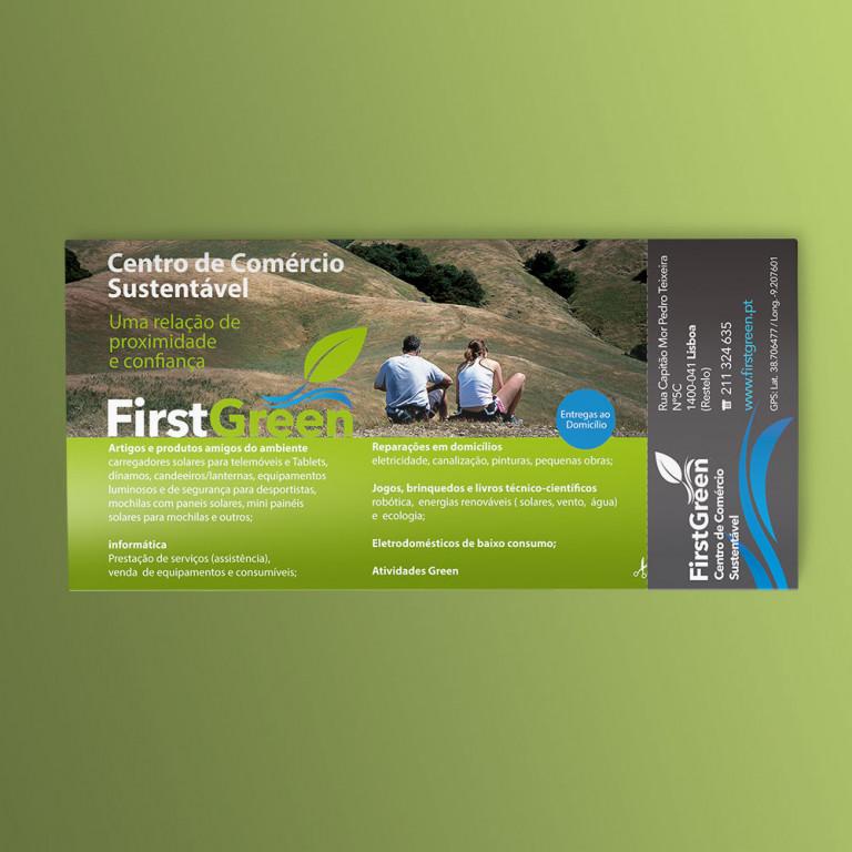 """portfolio 11/12  - Flyer """"First Green"""""""