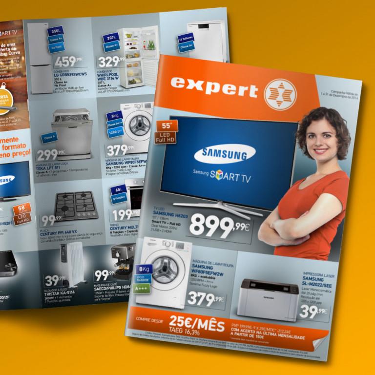 """portfolio 10/12  - Folheto Lojas """"Expert"""""""