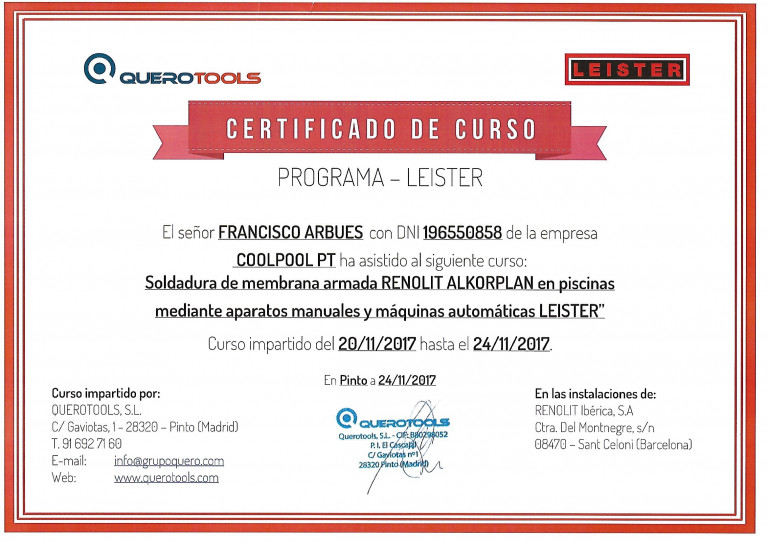 portfolio 1/3  - Certificado de curso