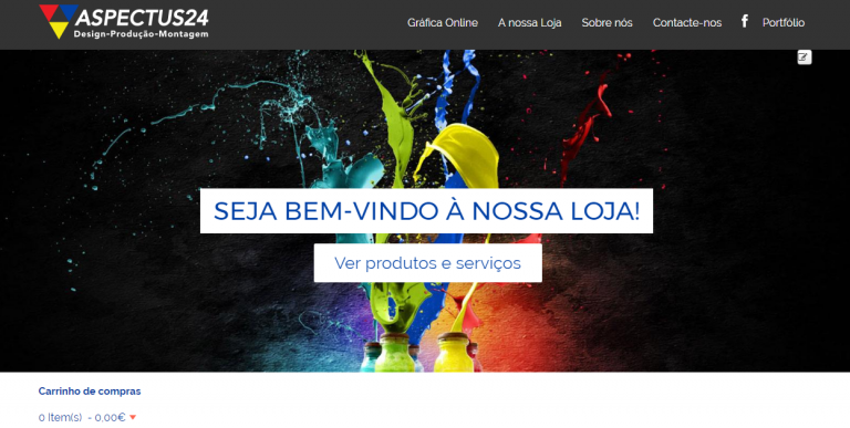 portfolio 1/9  - Desenvolvimento de Website com Loja Online Integrada, que permite pagamentos através de Cartão de Crédito, MB NET e PayPal