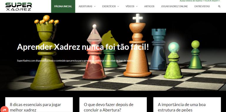 portfolio 3/9  - Desenvolvimento de Website para uma Plataforma de divulgação do Xadrez, onde foram integrados diversos widgets dinâmicos