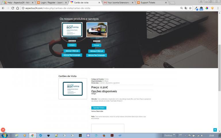 portfolio 4/9  - Desenvolvimento de Loja Online (Screenshot de uma página de Produto)