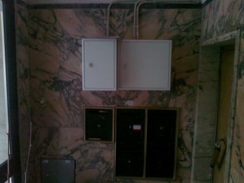 portfolio 44/55  - montagem de quadro electrico no Hall de um predio